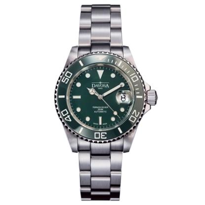 圖片 DAVOSA Ternos Ceramic 200米陶瓷框潛水腕錶-綠/40mm