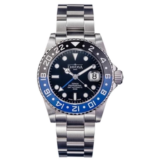 圖片 DAVOSA 161.571.45 Ternos TT GMT 雙色雙時區陶瓷圈200M潛水錶-藍黑/42mm