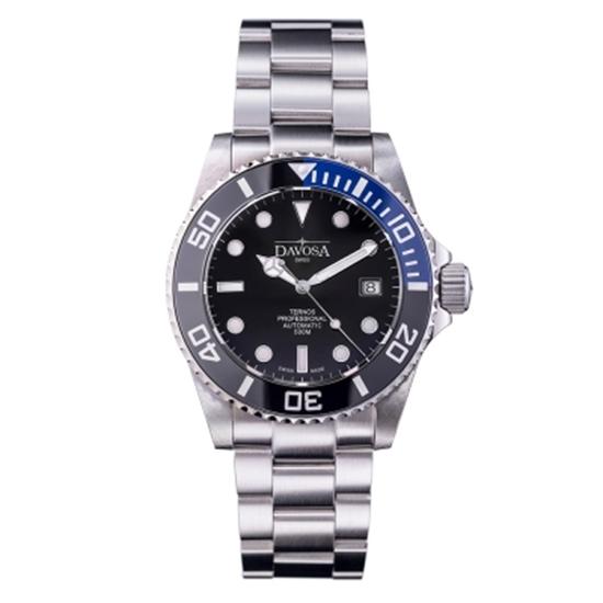 圖片 DAVOSA Ternos TT雙色陶瓷外圈自動排氦潛水專用錶-藍色/黑面/42mm
