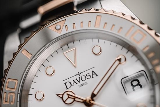 DAVOSA 161.555.63 莫蘭迪灰 白馬王子 專業200m潛水錶