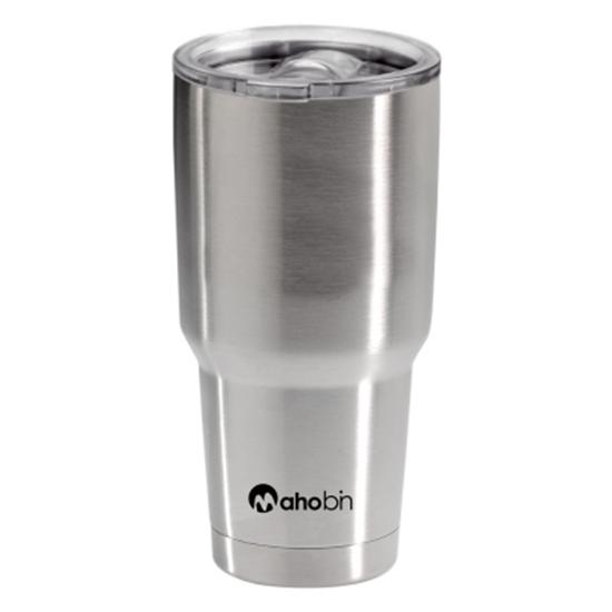 圖片 MAHOBIN魔法瓶 304不鏽鋼雙層真空加蓋啤酒杯/保溫杯/保冰杯800CC