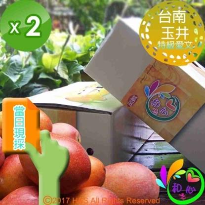 圖片 《和之心》特級愛文芒果禮盒(8至12顆5斤)2入組