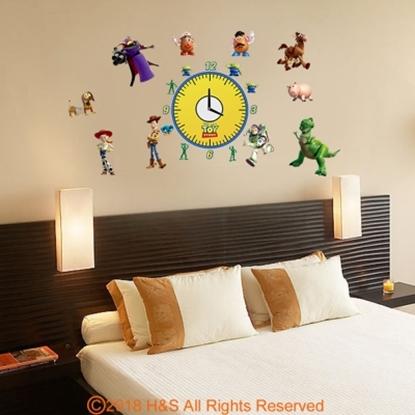 圖片 【迪士尼】玩具總動員時鐘貼 (35x50cm雙拼盒裝)1入