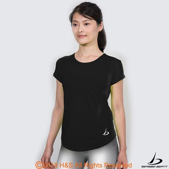 圖片 ◤BASENEFIT◢女子Coolback 跑步短袖上衣(黑)