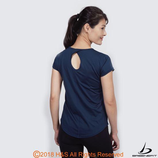 圖片 ◤BASENEFIT◢女子Coolback 跑步短袖上衣(藍)