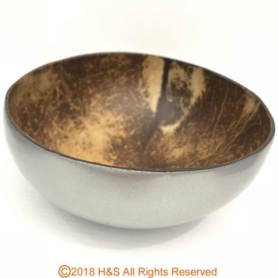 圖片 【璞木POMO】天然手作椰殼碗(銀)