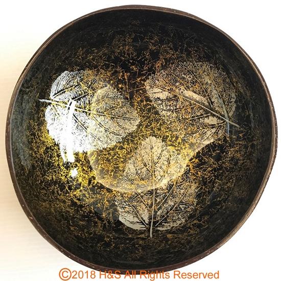 圖片 【璞木POMO】手作椰殼置物漆器葉拓系列(黃)