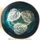 【璞木POMO】手作椰殼置物漆器葉拓系列(藍)