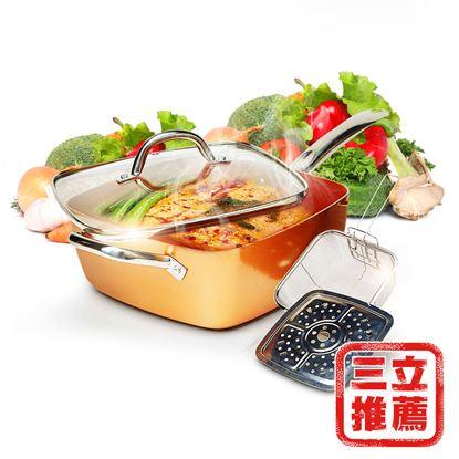 圖片 【COPPER CHEF】多功能方型不沾鍋組-電