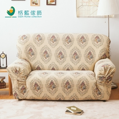 經典玫瑰彈性厚布沙發套1人座