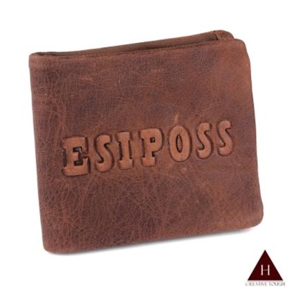 圖片 【H-CT】ESIPOSS牛皮紙質感紅棕短夾(E235-3K-Z)