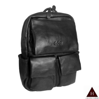 圖片 【H-CT】A.K百搭多袋設計真皮後背包(AK8280-Z)