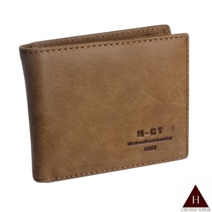 圖片 【H-CT】素面簡約多卡夾真皮淺棕短夾(7003#淺棕-Z)