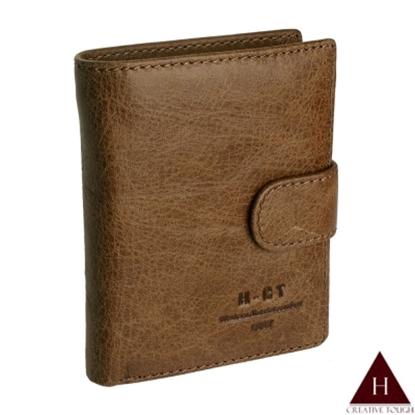 圖片 【H-CT】咖啡多層扣環式零錢真皮短夾(515#淺棕-Z)
