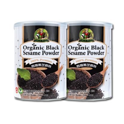 【禾園生技 旺伯有機】有機黑芝麻粉(350g/罐) x2罐