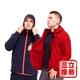 【戶外趣】 X-WARM保暖系列男刷毛連帽外套-電