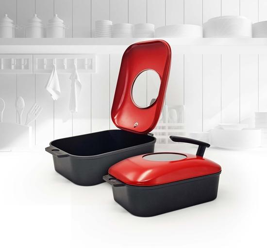 圖片 義大利mamacook多功能水蒸式煎烤鍋(贈防燙夾、料理夾)-電