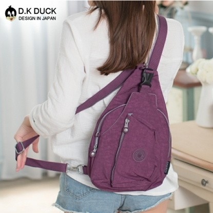 圖片 【好棉嚴選】D.K DUCK達可鴨 日系防潑水超輕量款 多功能單肩後背包-紫色