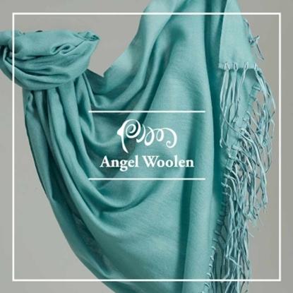 圖片 Angel Woolen 引領時尚Pashmina鑽石紋印度手工流蘇披肩 圍巾(共兩色)