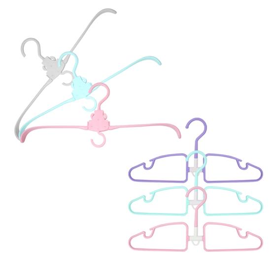 圖片 【YAMAKAWA】瞬收三段式摺疊衣架與4D翻轉衣架組(40支)-電