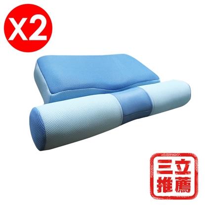 【YAMAKAWA】全方位護頸枕頭(雙入組)-電
