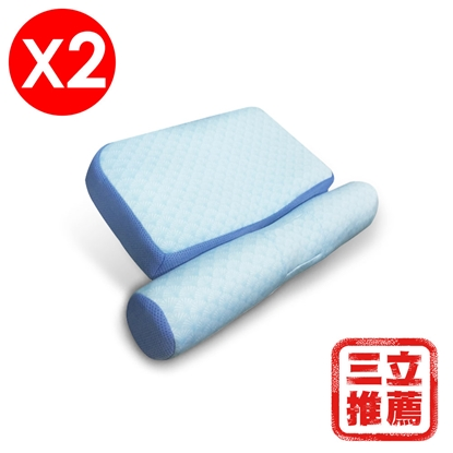 【YAMAKAWA】全方位 冰心涼感護頸枕(雙入組)-電