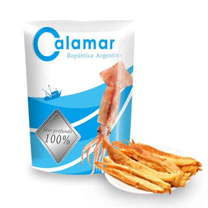 Calamar阿根廷100%深海魷魚條8包組-電
