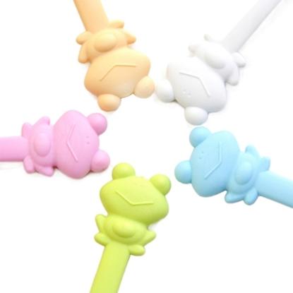 圖片 【Cornflower】快樂森林家族-快樂蛙湯匙叉子組-5色/組