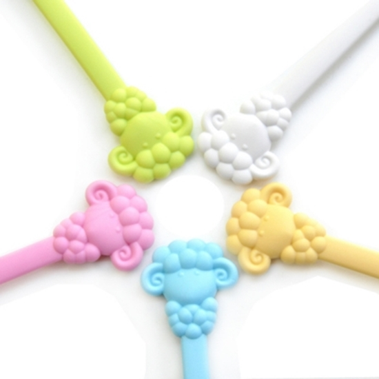 圖片 【Cornflower】快樂森林家族-溫暖綿羊湯匙叉子組-5色/組
