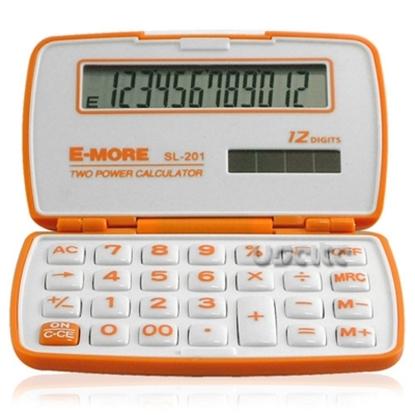 【E-MORE】蜜糖國家考試專用袖珍計算機-橘 SL-201