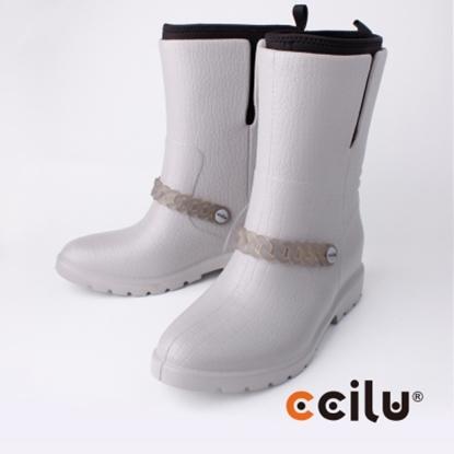 圖片 【CCILU】(女款)BYKER BECHY日系防水中短筒靴/雨靴-灰302066871