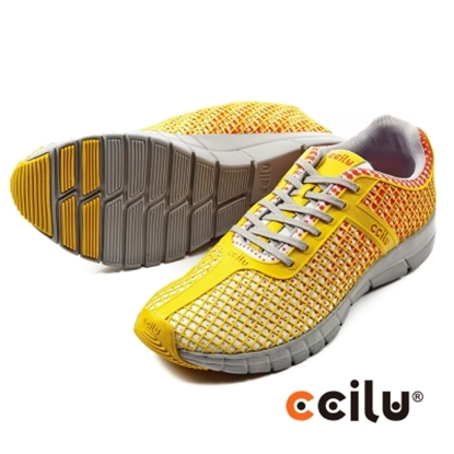 圖片 【CCILU】(男款)QUEST日系輕量運動休閒鞋-橘301097112