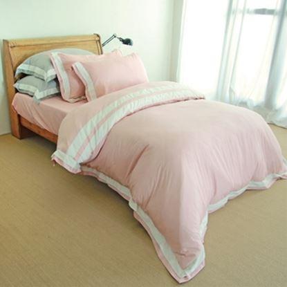 圖片 【米力寢具】高級精梳美國棉兩用被床包組(300織)-電