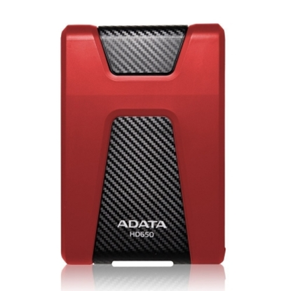 圖片 ADATA 威剛 HD650 1TB  悍馬 USB3.0 2.5吋 軍規防震硬碟 紅色