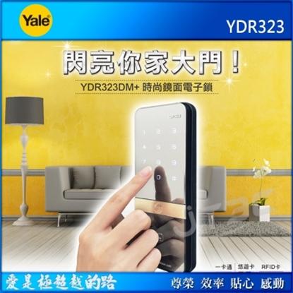 圖片 Yale 耶魯 YDR323 熱感觸控卡片密碼電子鎖 聯強代理商貨