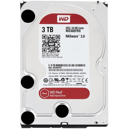 圖片 WD【紅標】3TB 3.5吋 NAS 硬碟(WD30EFRX)  5400轉/64MB/3.5吋/3Y