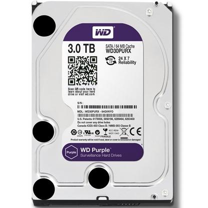 圖片 WD 【紫標】 3TB WD30PURZ (3.5吋/64M/5400轉/SATA3/三年保) 監控硬碟