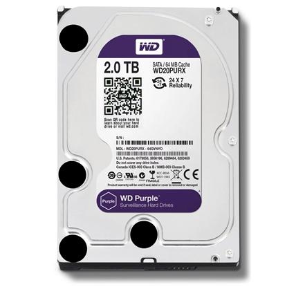 圖片 WD 【紫標】 2TB WD20PURZ (3.5吋/64M/5400轉/SATA3/三年保) 監控硬碟