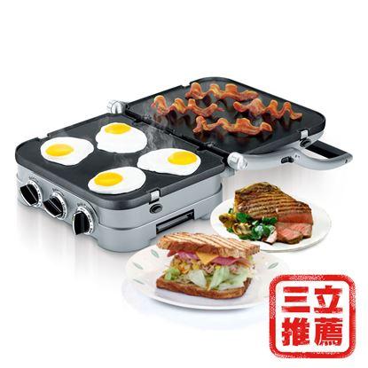 圖片 【美國Cuisinart 美膳雅】多功能燒烤機GR-4NTW-電