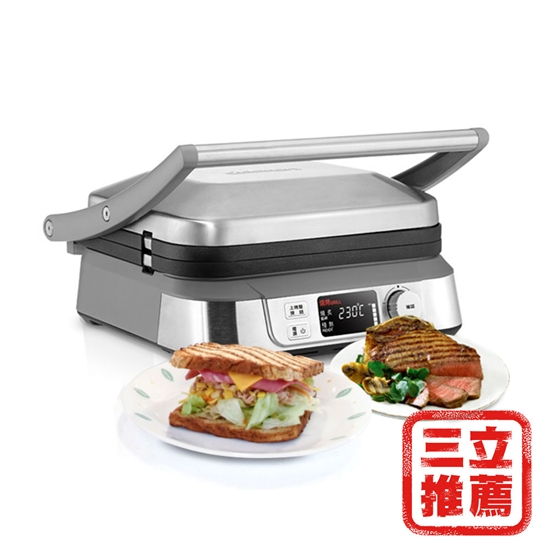 圖片 【美國Cuisinart 美膳雅】多功能燒烤機GR-5NTW-電