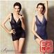 【艾波迷亞】法式香莉菱格紋均壓美體衣2件組-電
