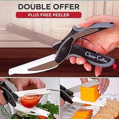 圖片 多功能便攜切菜砧板剪刀(1入)