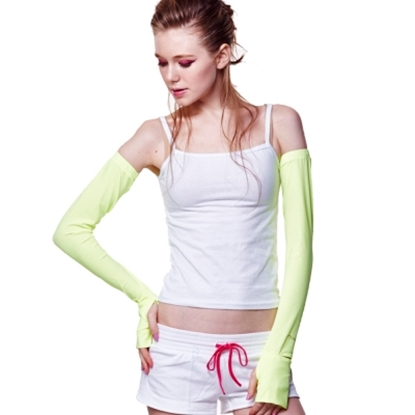 圖片 【極光】先進光學美療布-防曬袖套-黃色-電