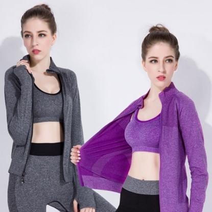 圖片 【JS嚴選】窈窕機能顯瘦防曬運動外套二件組-電