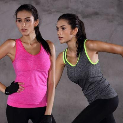 圖片 【JS嚴選】免穿內衣瑜珈運動背心兩件組-電