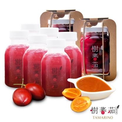 圖片 【草地狀元】春霖山園樹蕃茄禮盒 B 組(鮮果飲6瓶+純醬+蜜釀)-電