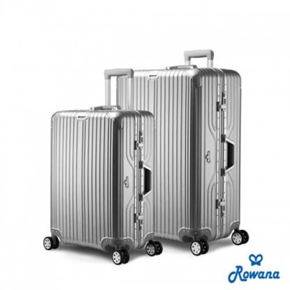 【Rowana】閃耀律動立體拉絲輕量鋁框旅行箱/行李箱 25+29吋(多色任選)-電