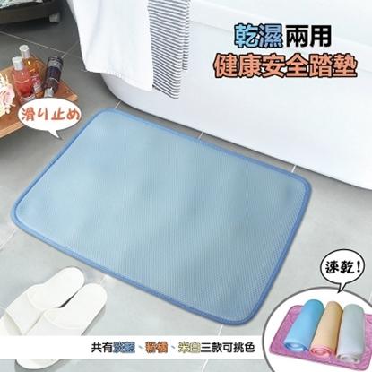圖片 【YAMAKAWA】乾濕兩用健康安全踏墊(藍)-電