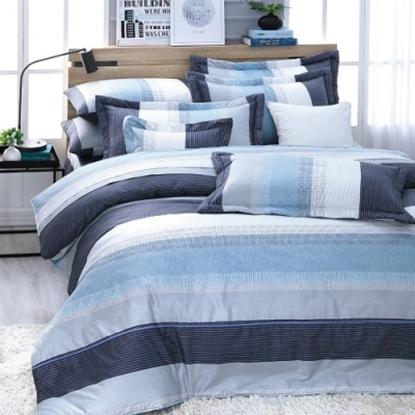圖片 【米力寢具】高級精梳美國棉兩用被床包組(200織)-電