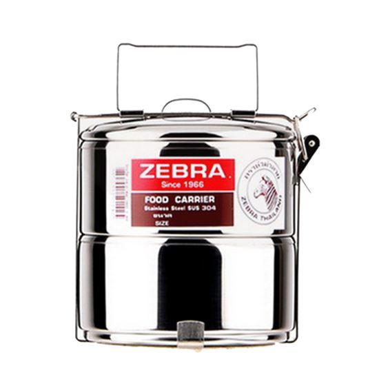 圖片 ZEBRA斑馬304不鏽鋼2層便當盒(14cm) 8142